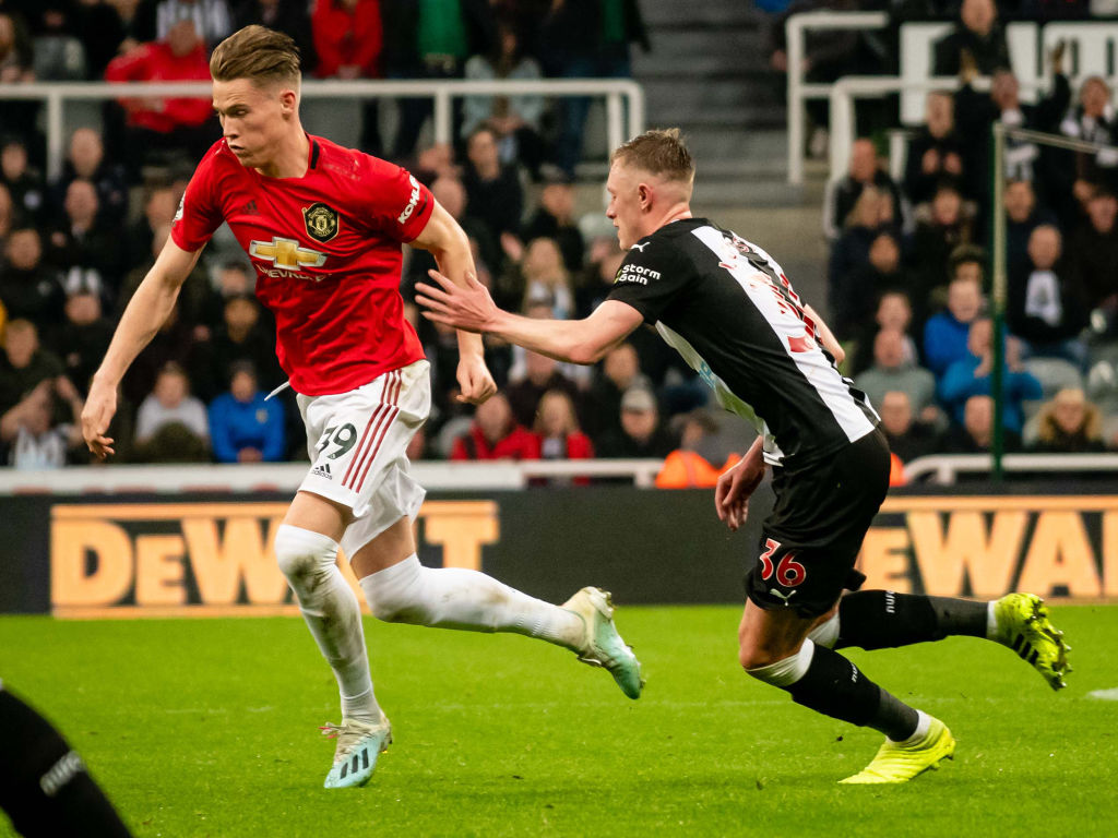 Scott McTominay in action at St James's.